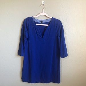 J. Crew Royal Blue Tunic Style Dress Size Small